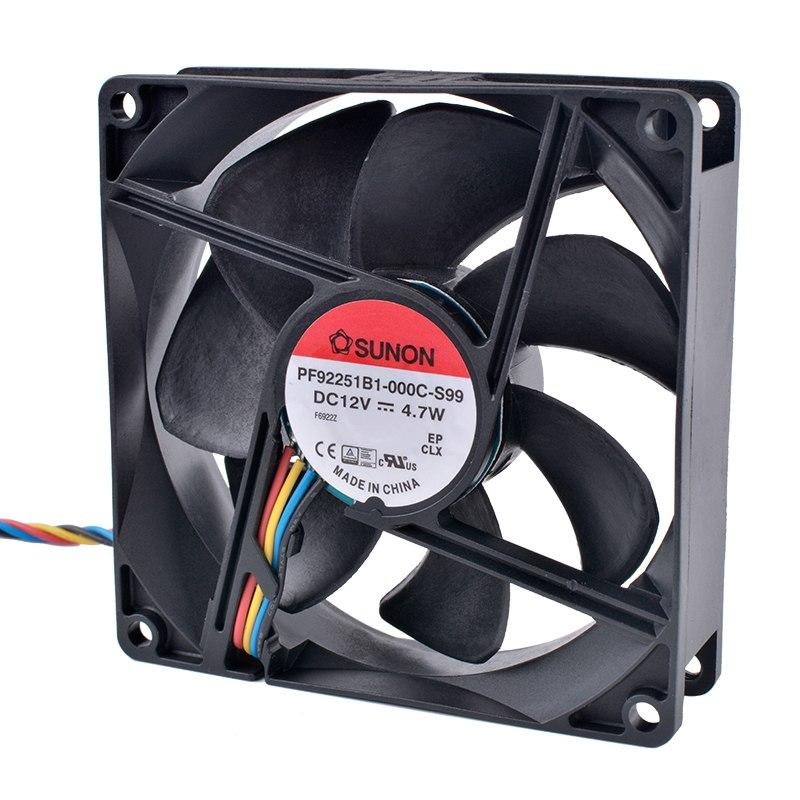 SUNON PF92251B1-000C-S99  DC12V 4.7W Dual ball bearing 4-wire fan