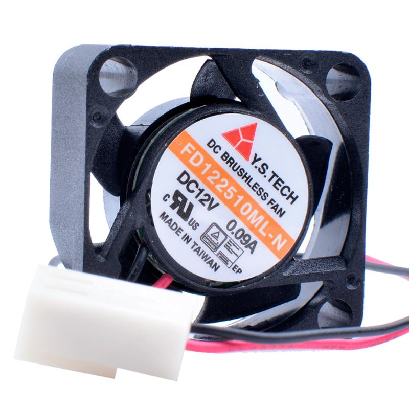 Y.C.TECH FD122510ML-N DC12V 0.09A Double ball miniature cooling fan