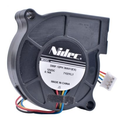 Nidec D05F-12PH 36AH1(EX) 12V 0.14A 4pin Turbo Blower Cooling Fan
