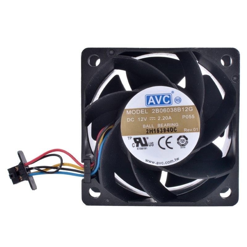 AVC 2B06038B12G DC12V 2.20A ball bearing cooling fan