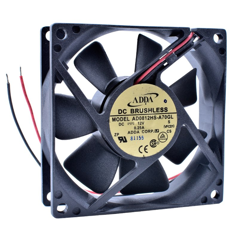 ADDA AD0812HS-A70GL DC12V 0.25A 2wire cooling fan