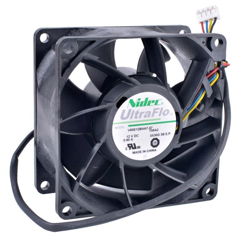 Nidec V80E12BHA7-57 12V 0.80A Double ball bearing cooling fan