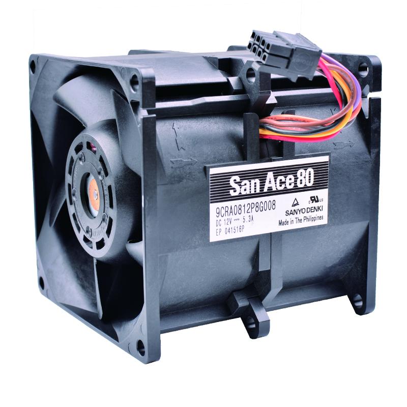 Sanyo 9CRA0812P8G008 DC12V 5.3A car booster violence powerful server fan