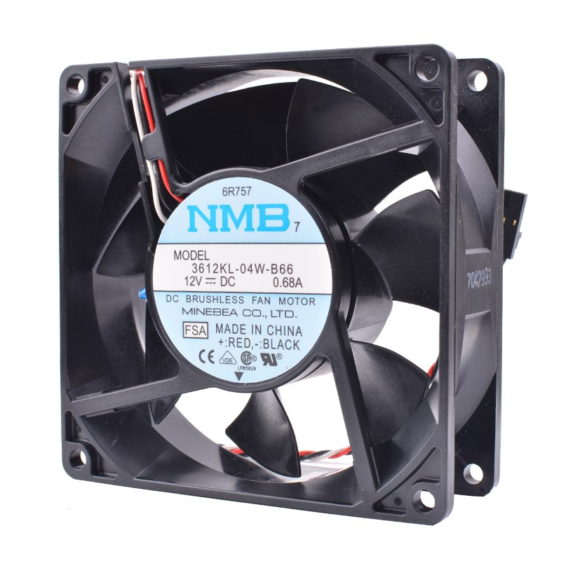 NMB 3612KL-04W-B66 12VDC 0.68A Double ball cooling fan
