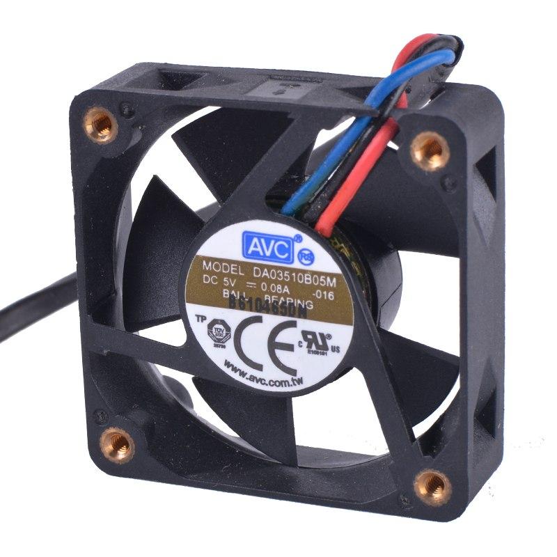 AVC DA03510B05M 5V 0.08A 3wire double ball bearing cooling fan