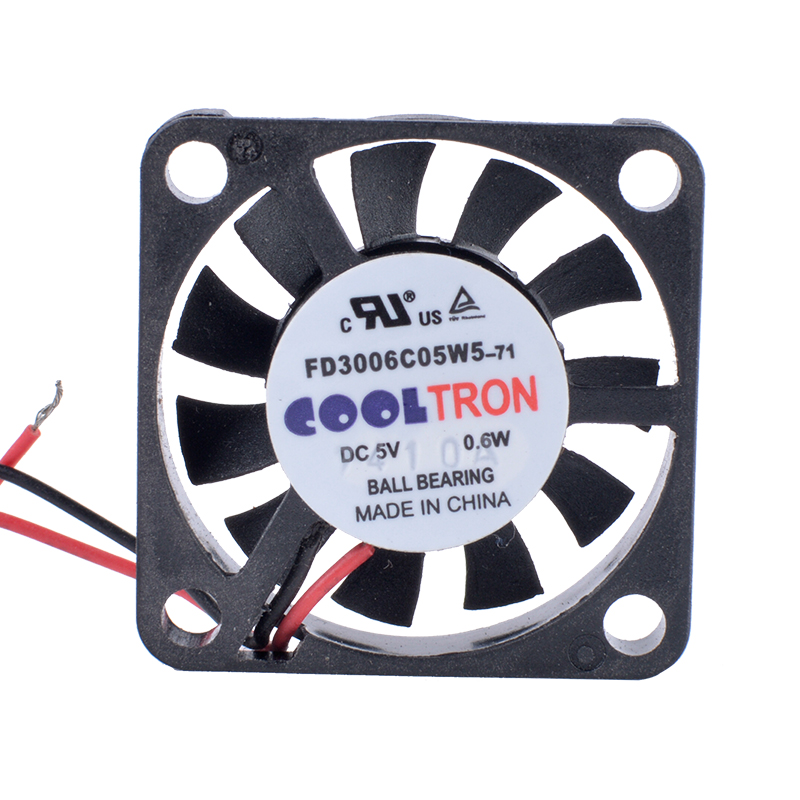 COOLTRON FD3006C05W5 5V 0.6W ball bearing cooling fan