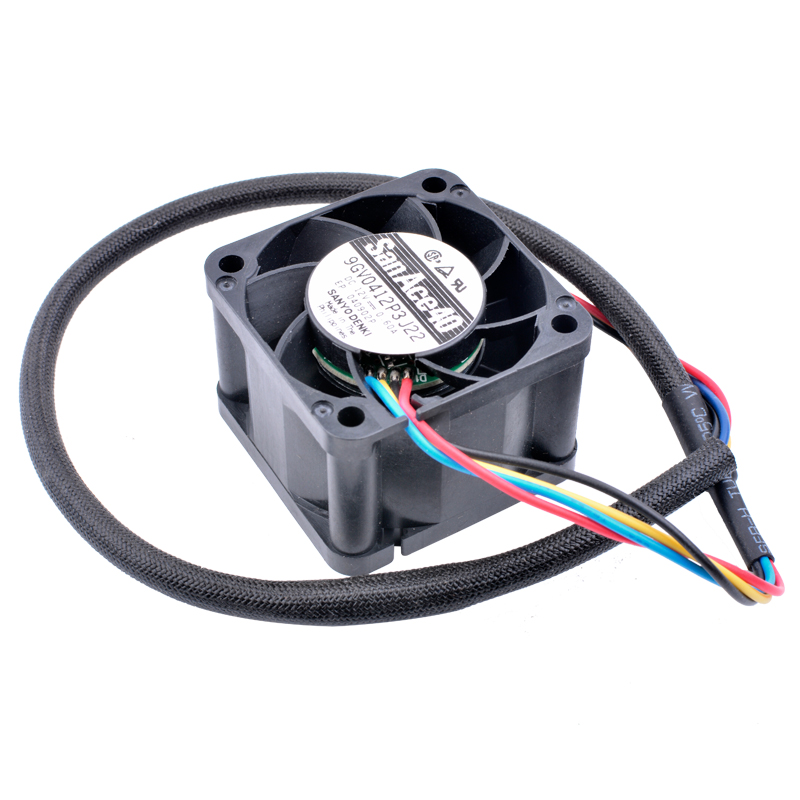 Sanyo 9GV0412P3J22 DC12V 0.60A 4-wire cooling fan