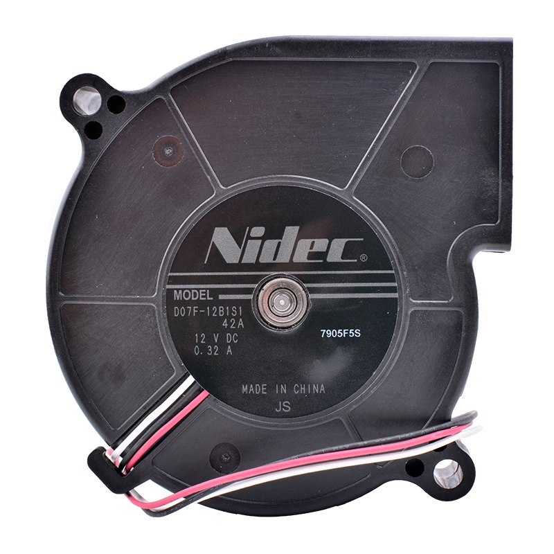 Nidec D07F-12B1S1 42A DC 12V 0.32A Centrifugal turbine blower fan