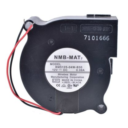 NMB BM5125-04W-B30 12V 0.08A Double Ball Bearing Silent Centrifugal Turbo Blower Fan
