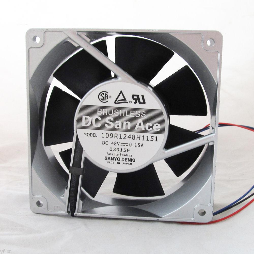 SANYO 109R1248H1151 DC48V San Ace 0.15A Metal Fan