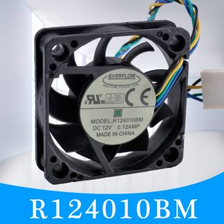 EVERFLOW R124010BM 12V 0.12A 4-wire double ball bearing silent cooling fan