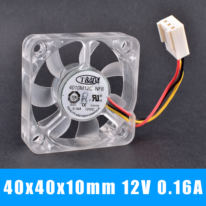T&T 4010M12C NF6 12V 0.16A Ball bearing North and South Bridge cooling fan