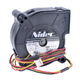 Nidec D06F-12BS1 12V 0.33A Double Ball Bearing Blower Fan