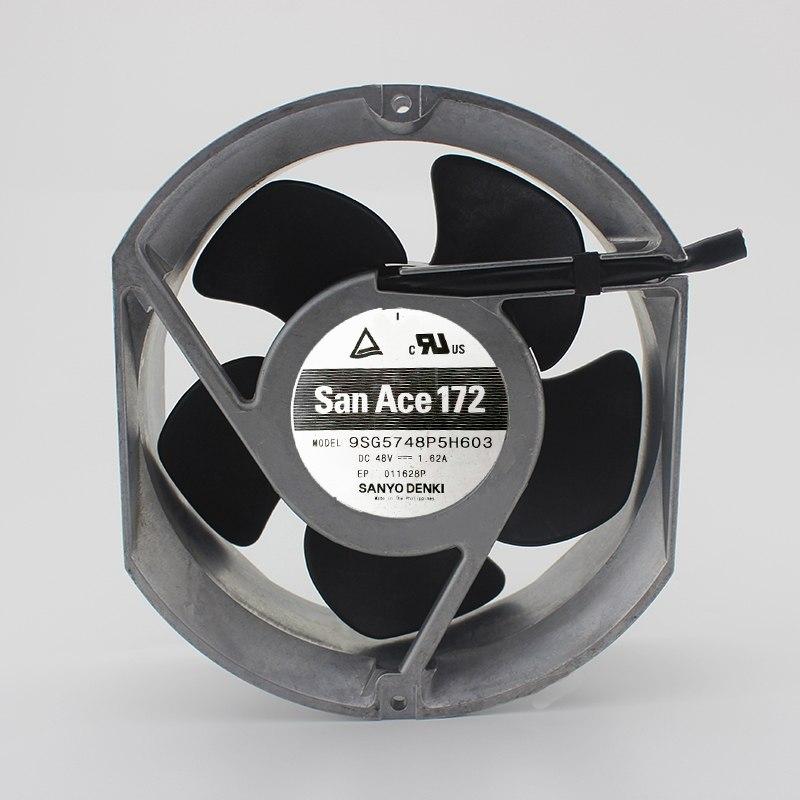 Sanyo 9SG5748P5H603 DC48V 1.62A 17CM inverter cooling fan