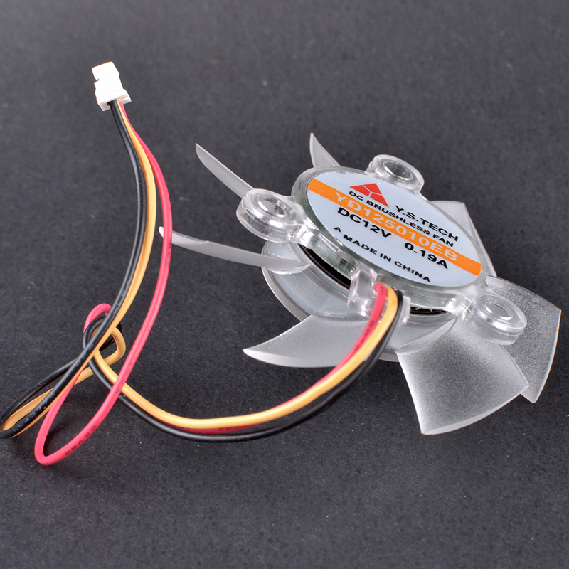 Y.S.TECH YD125010EB 12V 0.19A 3pin graphics cooling fan