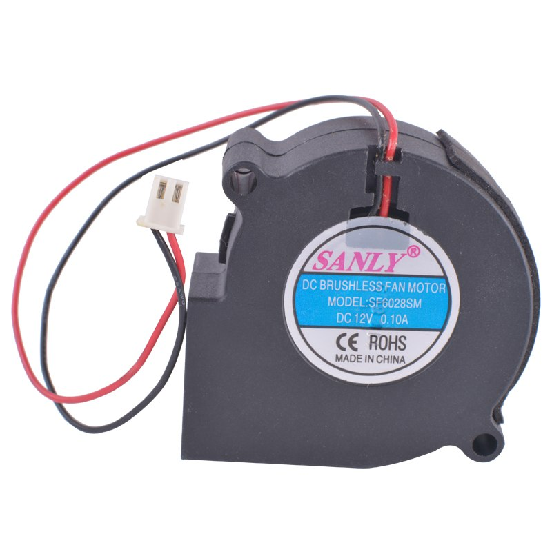 SANLY SF6028SM 12V 0.10A Centrifugal Turbo Blower Fan