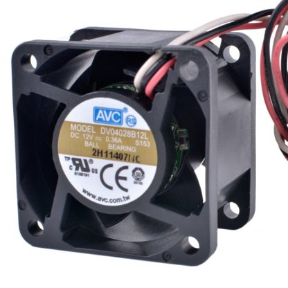 AVC DV04028B12L DC12V 0.36A Silent Airflow Cooling Fan