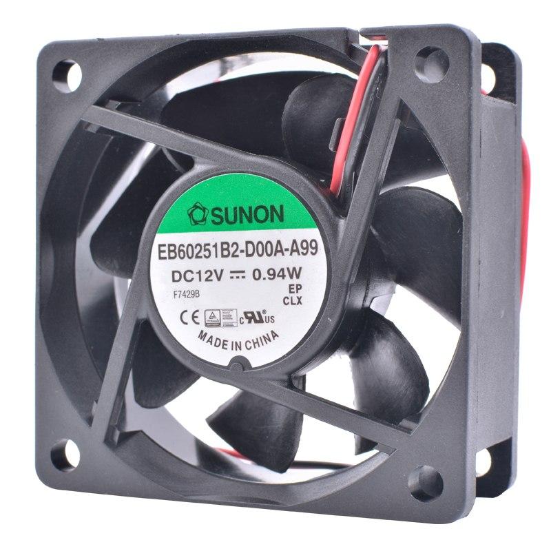 SUNON EB60251B2-D00A-A99 DC12V 0.94W 2pin cooling fan