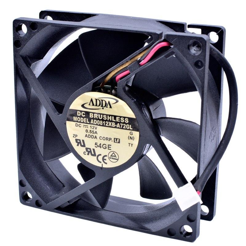 ADDA AD0812XB-A72GL DC12V 0.55A Computer cooling fan